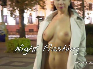 Night flashing. walk undressed in public.