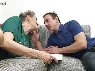 Granny engulf and granny fuck juvenile dude