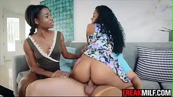 Yasmine de leon takes mya mays on the interracial three-some ride of her life