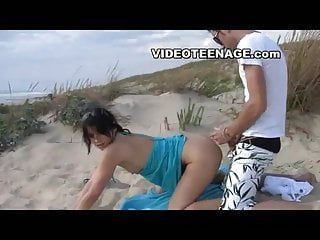 Eighteen years old legal age teenager porno at beach