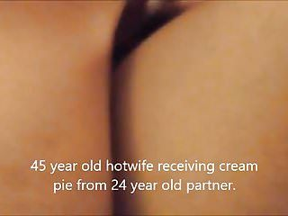 45 year old wife getting creampie from much younger stud