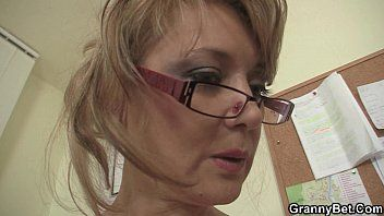 Office woman in white nylons riding his schlong