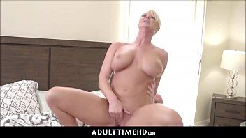 Large scoops blond milf step mama lets lonely step son fuck her
