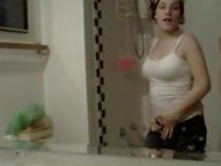 Gorgeous overweight playgirl masturbating selfshot clip