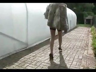 Lady.s- nude in public
