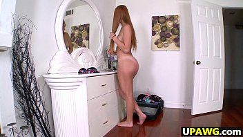 Large arse redhead farrah flower receives pumped