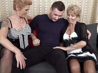 2 grannies having sex with youthful man