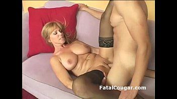 Astounding golden-haired cougar with bigboobs bounces on corpulent rod with wet crack to face hole