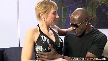 Hawt cougar gemma greater amount suggests anal sex to dark boy